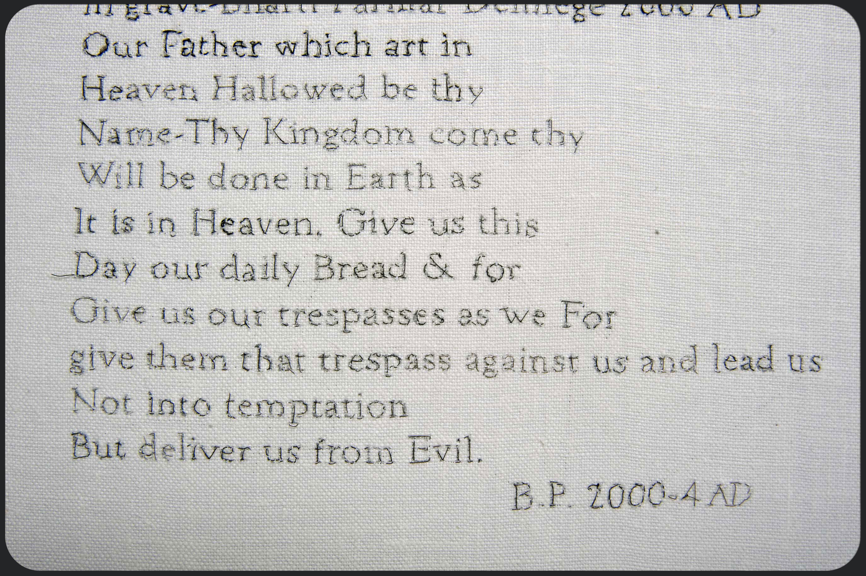 The Lords Prayer (detail)